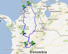 [Colombia 2013] Itinerary update