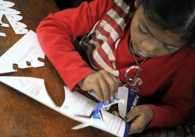 [Nepal 2013] Wednesday 13th of November – Second day of classes at Maya Universe Academy